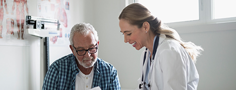 image of a doctor talking to patient