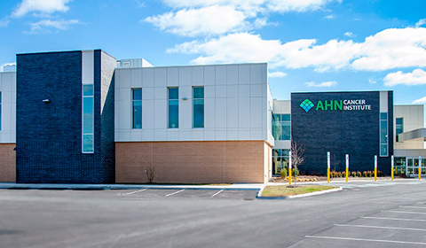 image of the exterior of AHN Forbes Cancer Institute