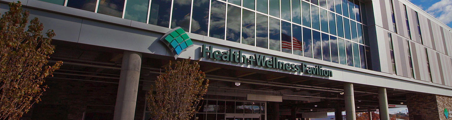 image of the exterior of Wexford Health + Welllness Pavilion