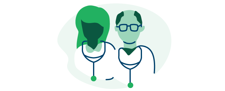 illustration of a pair of doctors