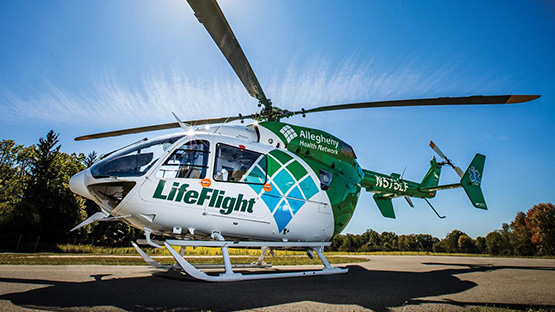 image of AHN Canonburg Hospital's Life Flight Helicopter