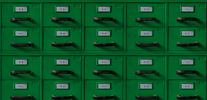 image of filing cabinets a through z