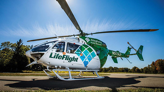 Image of a Life Flight Helicopter