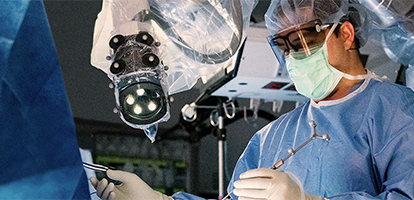 neuroscience surgeon focusing on procedure