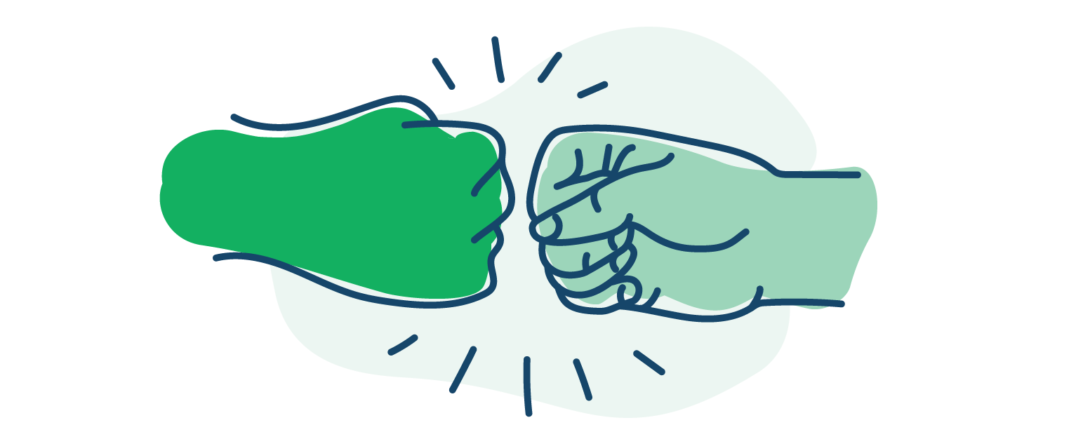 illustration of two fists bumping