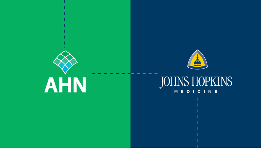 graphic of AHN and Johns Hopkins logos