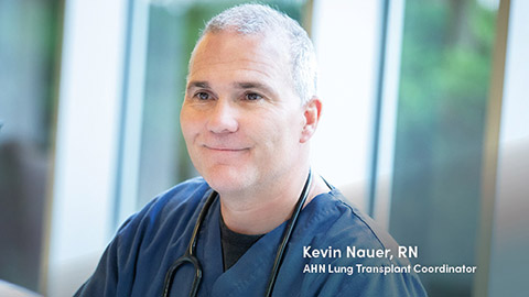 image of lung transplant coordinator Kevin Nauer